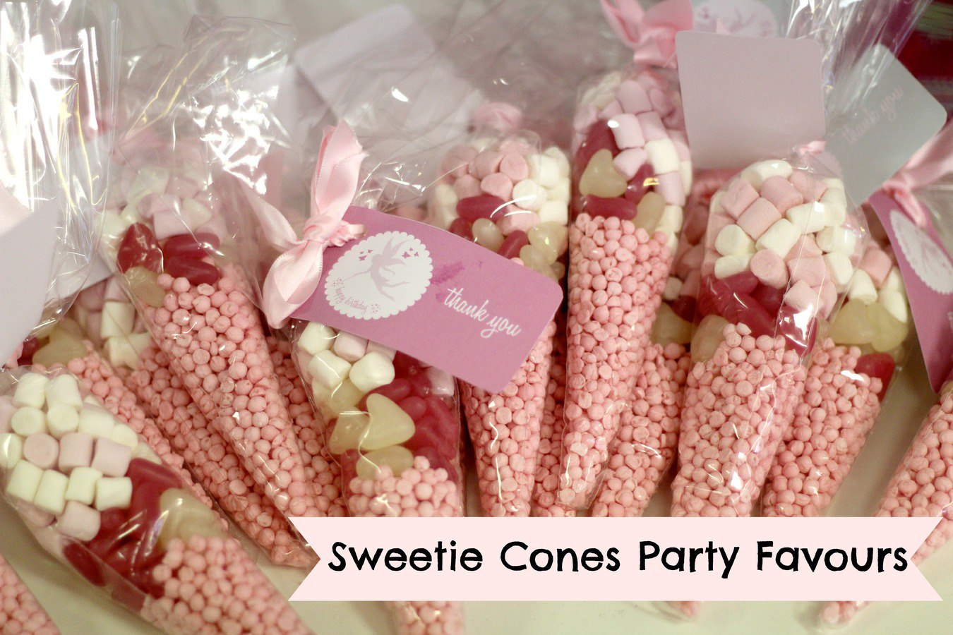 sweetie cones party favours