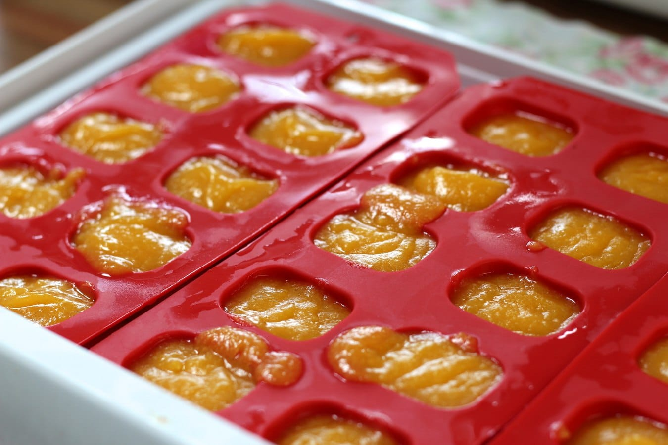 Baby weaning silicone ice cube trays
