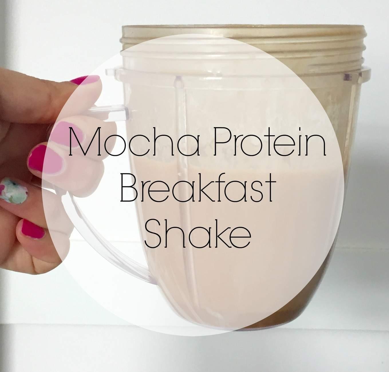 mocha protein breakfast shake 1