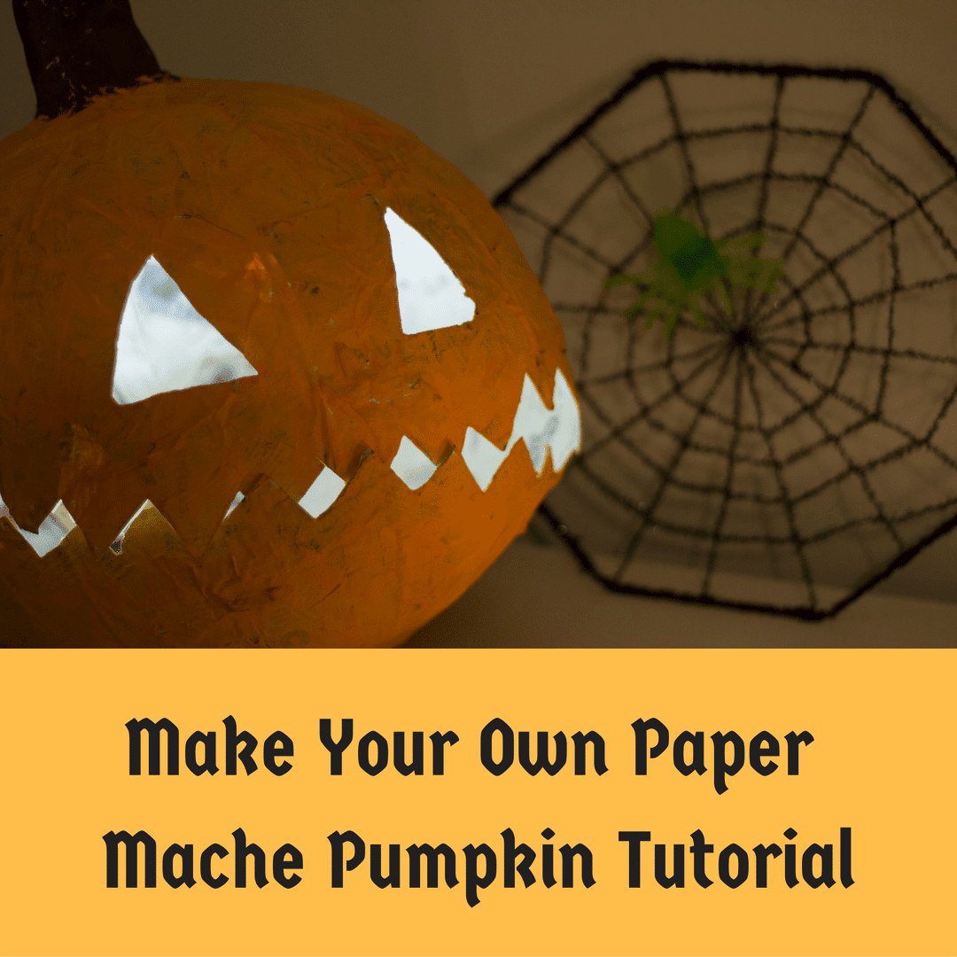 Halloween Crafts - Paper Mache Pumpkin Tutorial