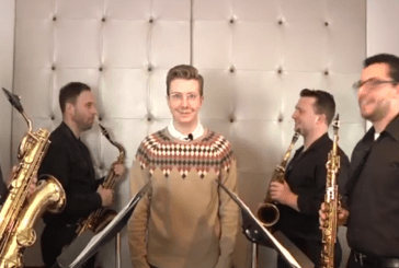 """The Power of Love – Huey Lewis and The News – """"German"""" Sax Quartet Version (Video)"""