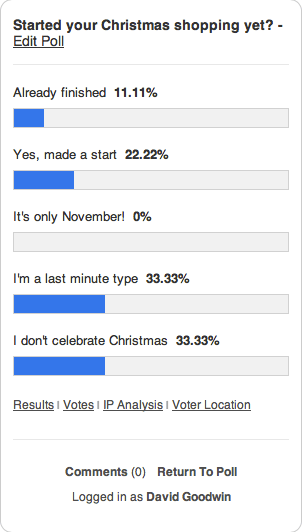 Xmas poll