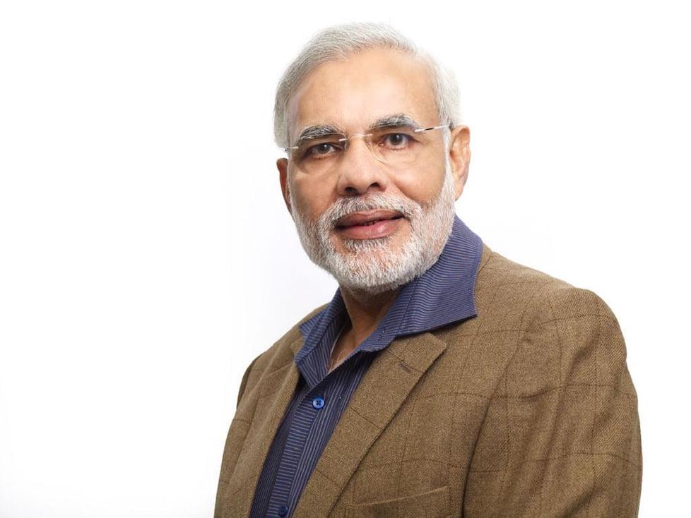 India's PM Narendra Modi comes to Wembley Stadium