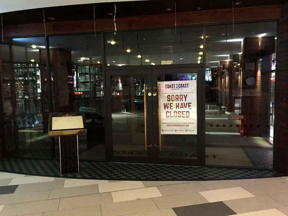 Coast to Coast American Restaurant closes in Wembley