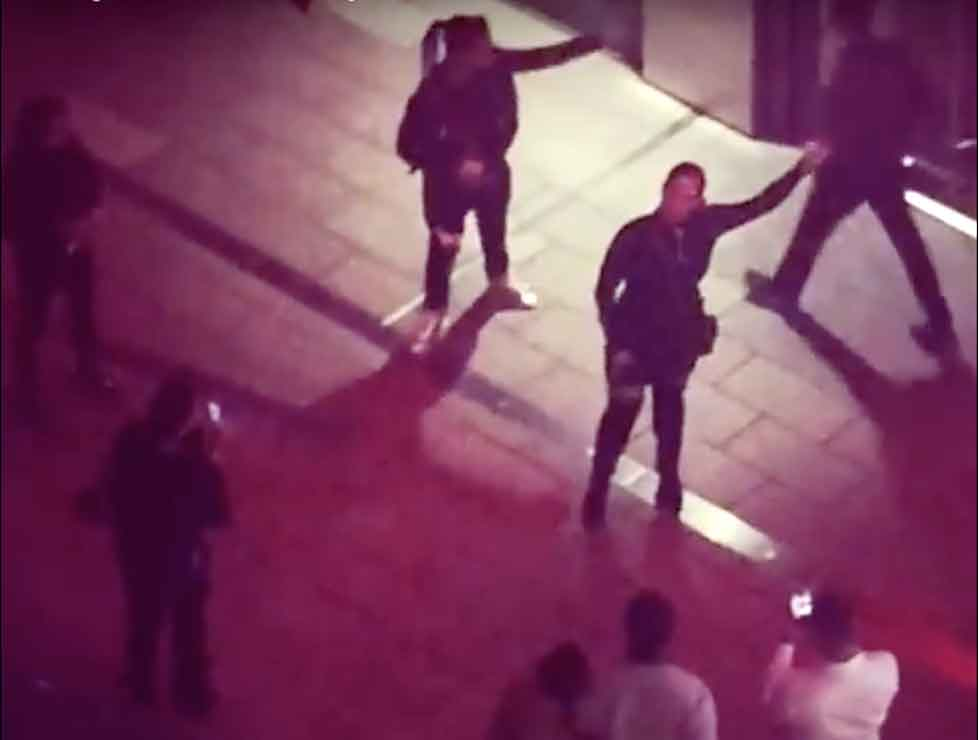 Watch woman break into song at the London Designer Outlet