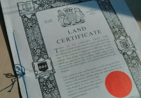 Photo of land certificate