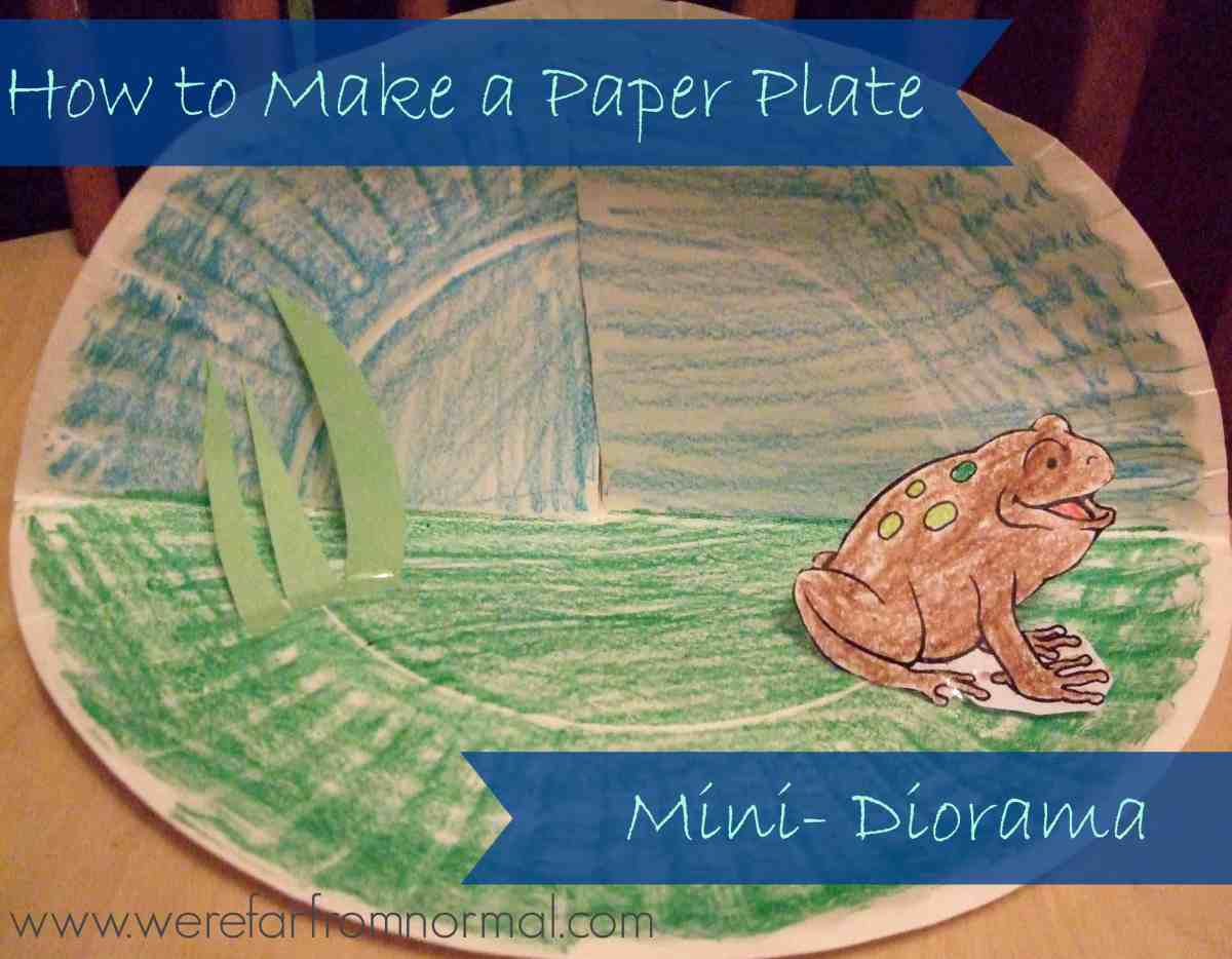 How to Make a Paper Plate Mini- Diorama (and a lesson on animal sanctuaries)