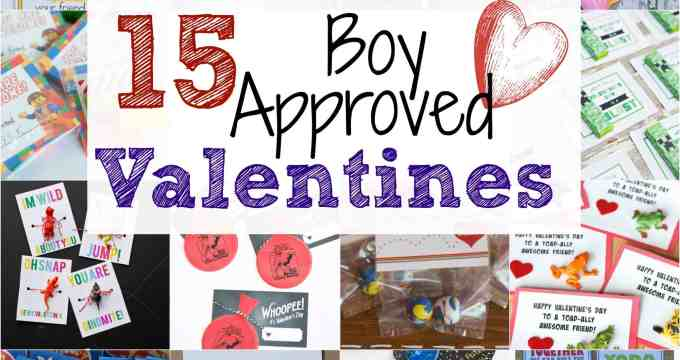 15 Boy Approved Valentines!