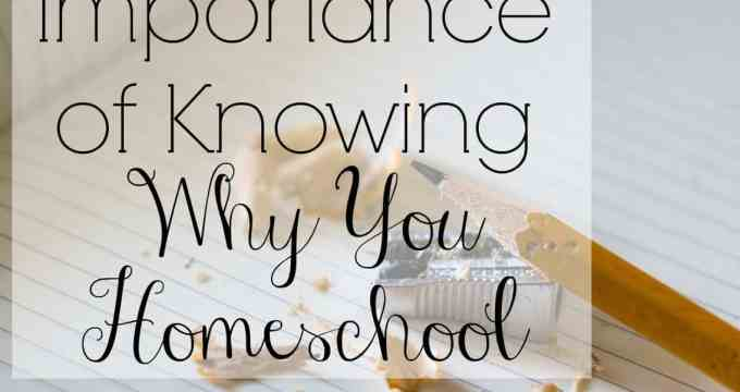 The Importance of Knowing Why You Homeschool