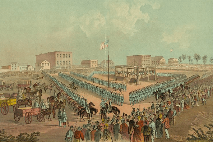 Execution of the thirty-eight Sioux Indians at Mankato Minnesota, December 26, 1862
