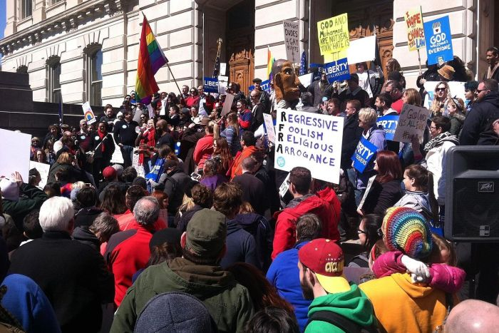 RFRA Protests in Indianapolis
