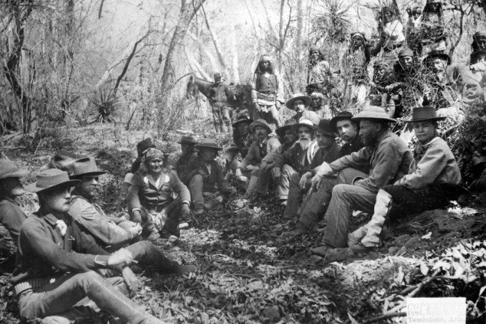 Council between General Crook and Geronimo