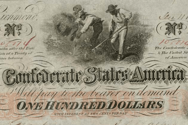 Confederate States One Hundred-Dollar Note