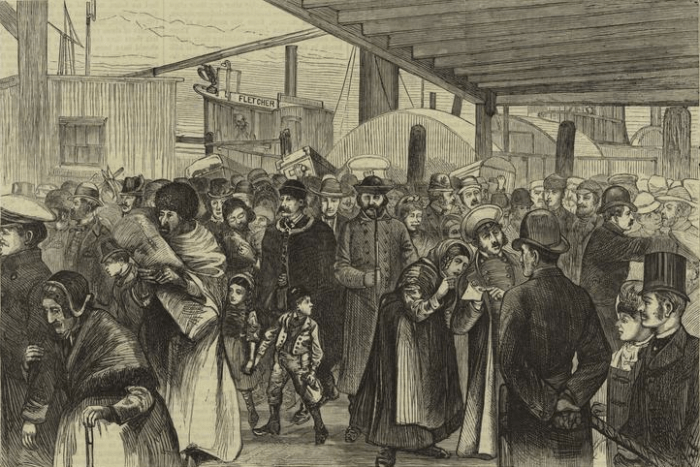 Immigrants Landing At Castle Garden