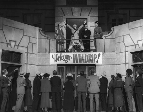 Scene from <em>It Can't Happen Here</em>, Los Angeles Yiddish production, 1936