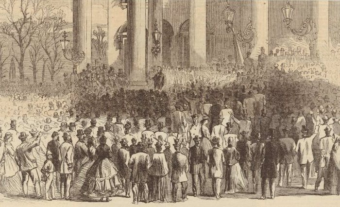 President Johnson Speaking in Washington in 1866