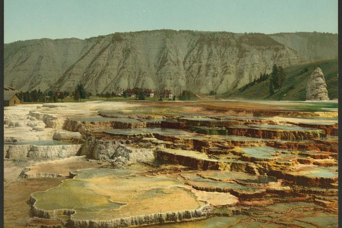 Hymen Terrace, Yellowstone National Park, Wyoming (Photo: Library of Congress)
