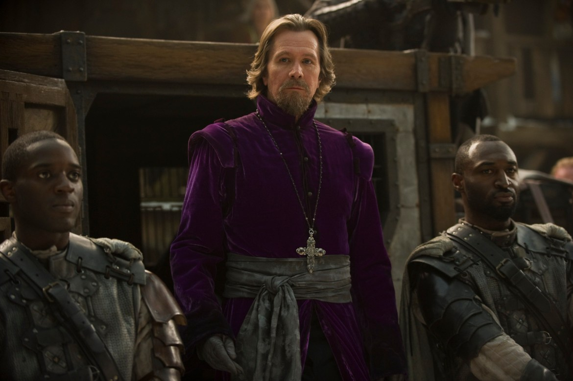 "RRH-03806 GARY OLDMAN as Father Solomon (center) in Warner Bros. Pictures' fantasy thriller ""RED RIDING HOOD,"" a Warner Bros. Pictures release."