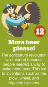 There is probably a lot of truth to this statement... Source: http://www.huffingtonpost.com/2013/04/05/beer-facts-trivia_n_3016246.html