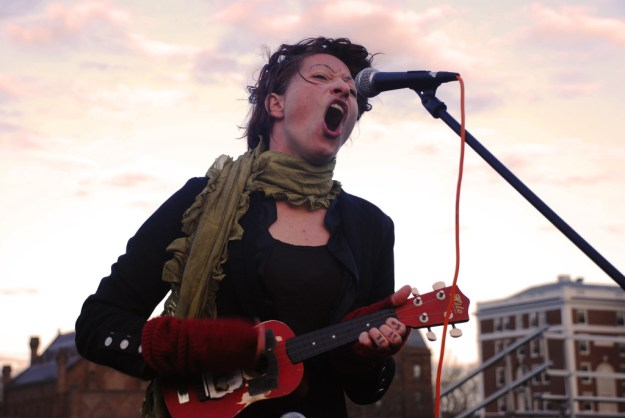 "Wesleying's own Gabe took this ridiculously excellent shot of Amanda Palmer at last weekend's ""Humanity Festival."" Click for the full gallery."