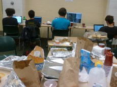 Group of Huge Nerds Holds Slumber Party in Exley 137: Meet the Senior Week Hackathon