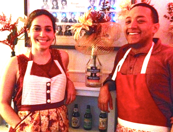 The chefs themselves. And yes, the stylish matching apron are part of the experience.
