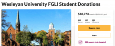 URGENT Fundraiser: Wesleyan University FGLI Student Donations