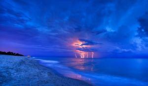 storm on lake