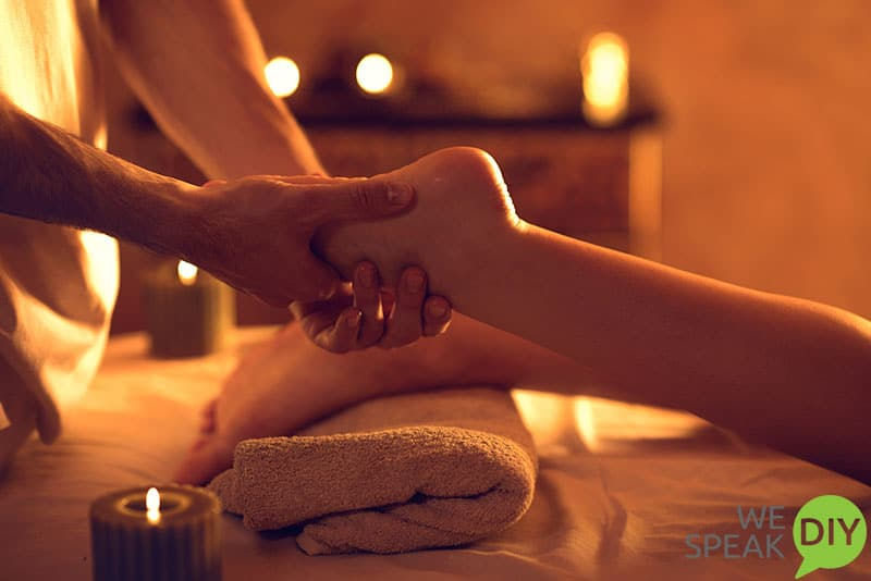 Easy Holiday Entertaining Foot Massage After Party is Over