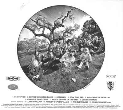 Aoxomoxoa Back Cover (Grateful Dead)