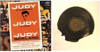 Judy Garland vinyl record album from Olompali