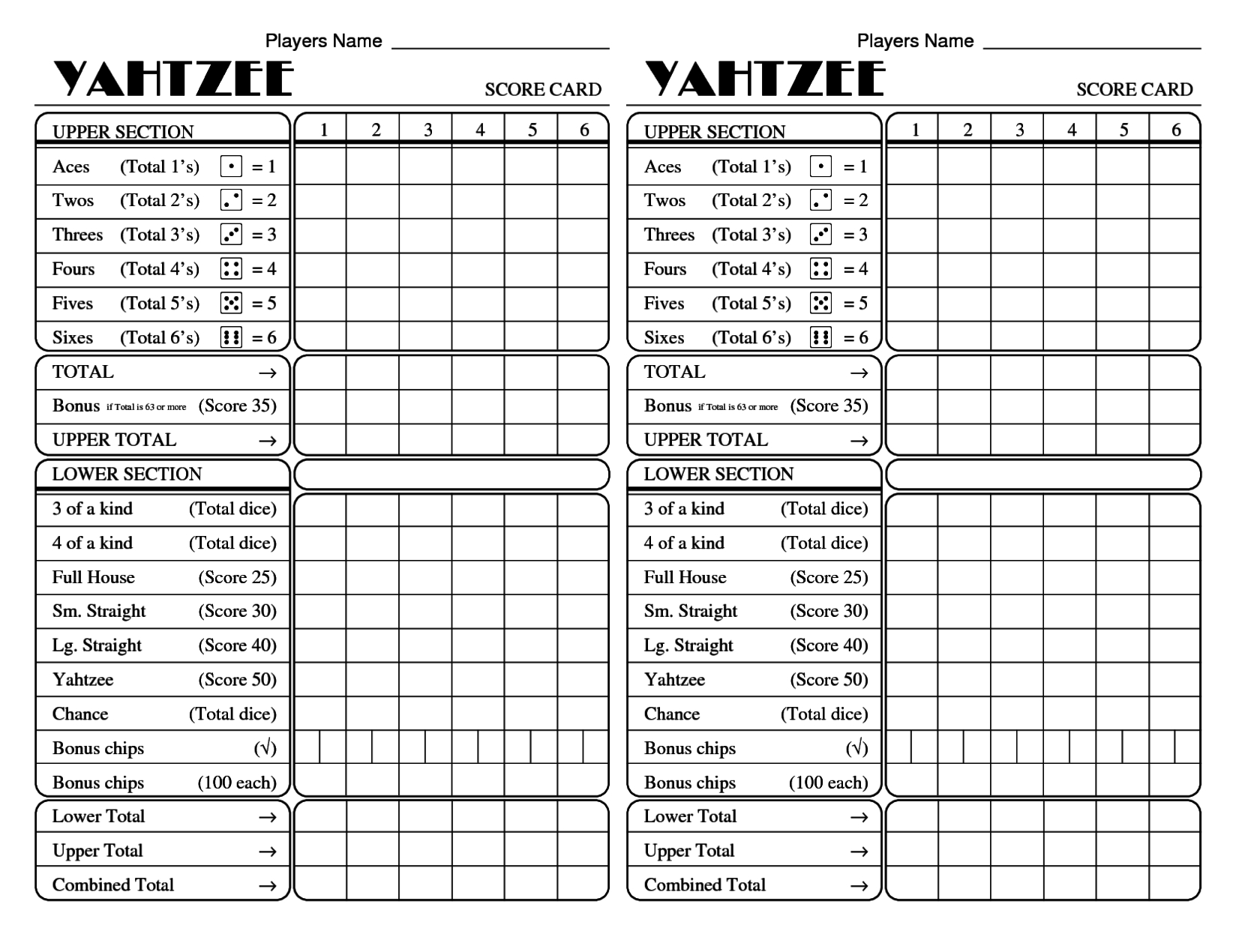 Alluring A Scorecard Yarddice Hashtag On Twitter Diy Yardzee Score