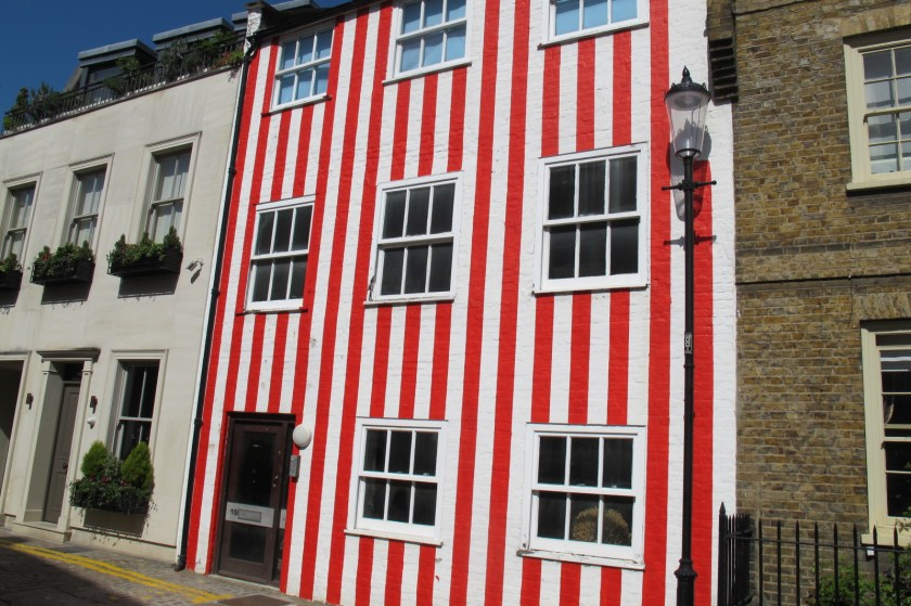 Candy-stripe house on South End