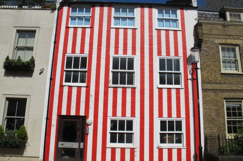 Stripes: The house in South End Kensington has to be repainted white