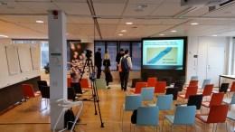 Foto från frukostlokalen en stund innan seminariet började