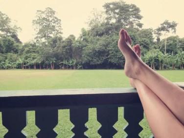 Relaxing nach dem Wandern