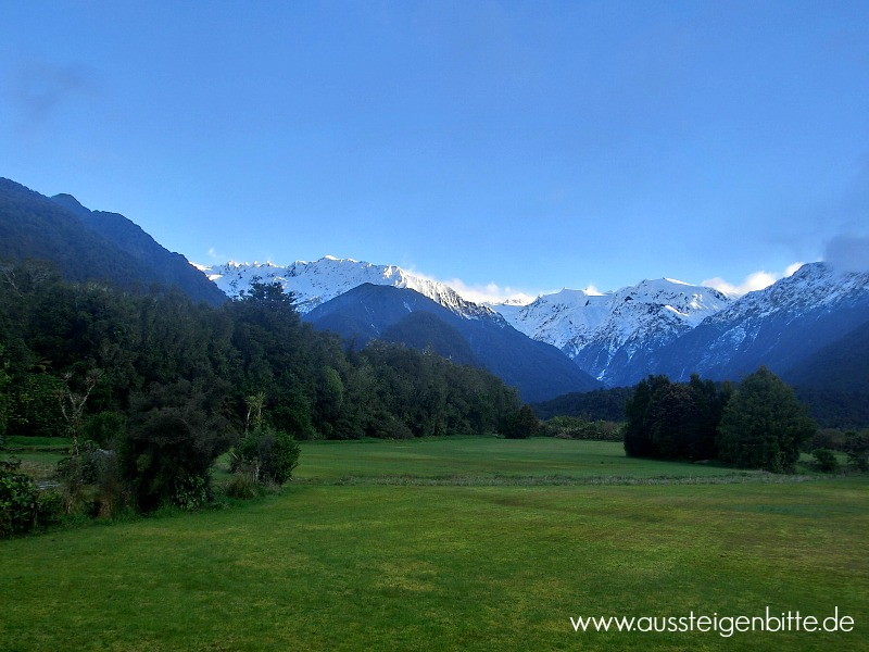 Franz Josef Glacier Ausblick Accomondation