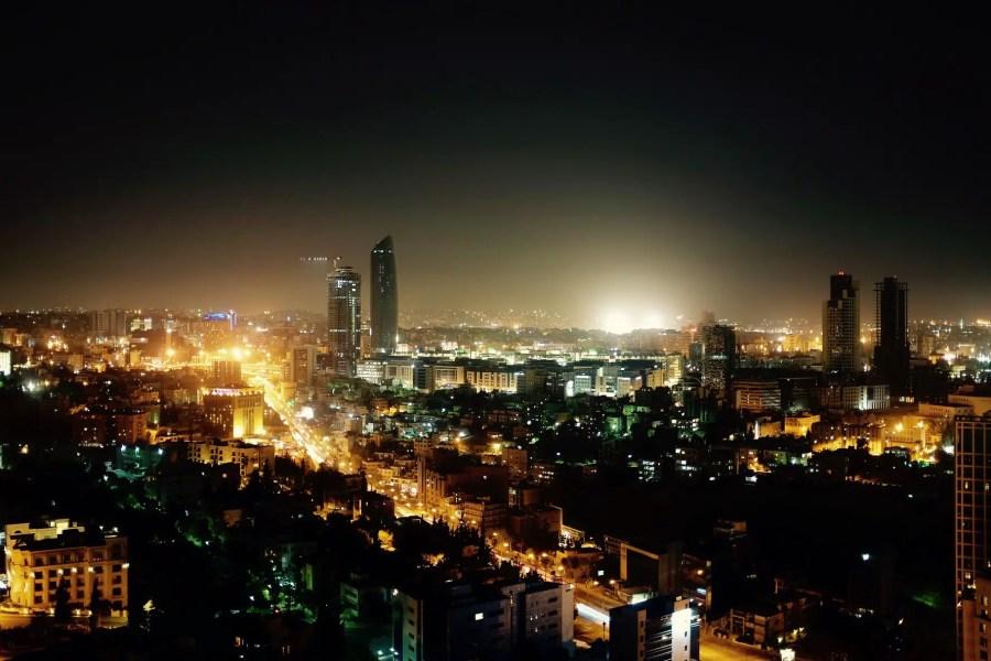Amman bei Nacht