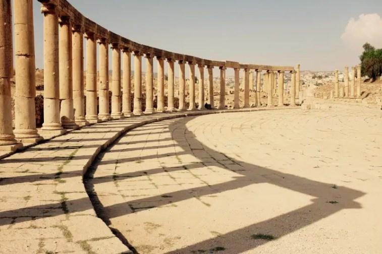 Säulen am Versammlungsplatz, Gerasa, Jordanien