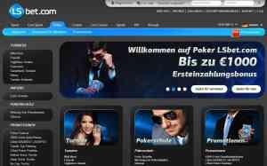 LSBet Bonus für den Poker-Room: Aktuell bis zu 1000€