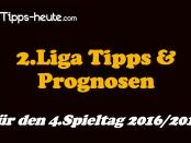 4.Spieltag 2.Liga Tipps 2016 2017