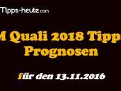 WM Quali Wetten & Quoten 13.11.2016