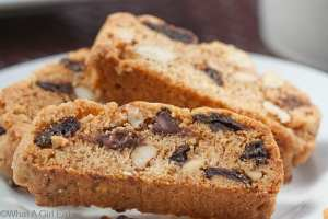 Chocolate Chip, Cherry, Almond Biscotti