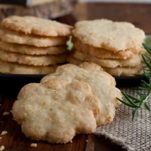 Cheddar and Rosemary Shortbread