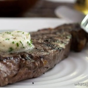 Shallot-Horseradish Chive Steak Butter.