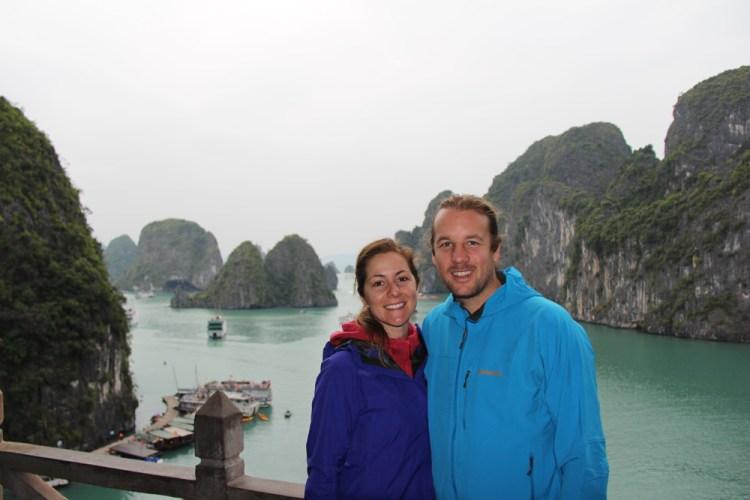 Justin and Kristin at Halong Bay