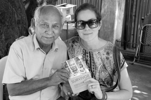 Kristin Butler with Tuol Sleng Survivor