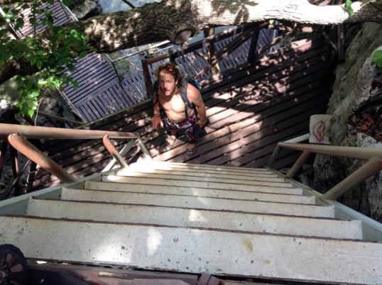 Steep Stairs Thailand