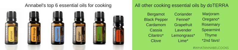 cook with essential oils