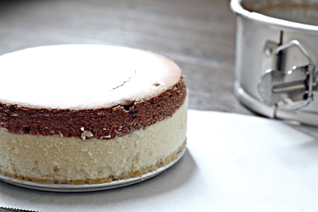 Black and White Cookie Cheesecake